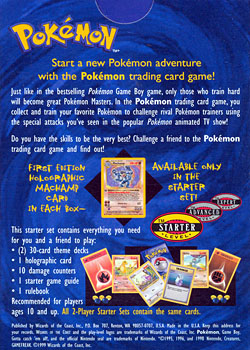 2-Player Start Deck Theme Deck (Back) from Base Set