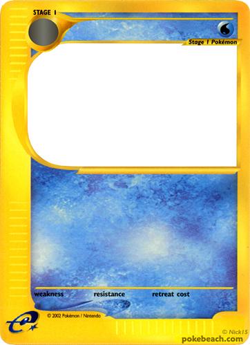 Water Pokemon Fake Card Blanks Pokebeach