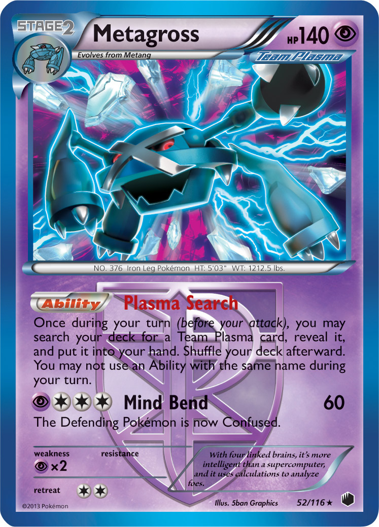 First 14 plasma freeze card images pok beach - Carte pokemon team plasma ...