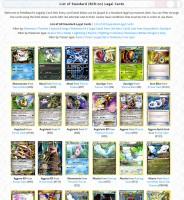 List Of Standard Cards