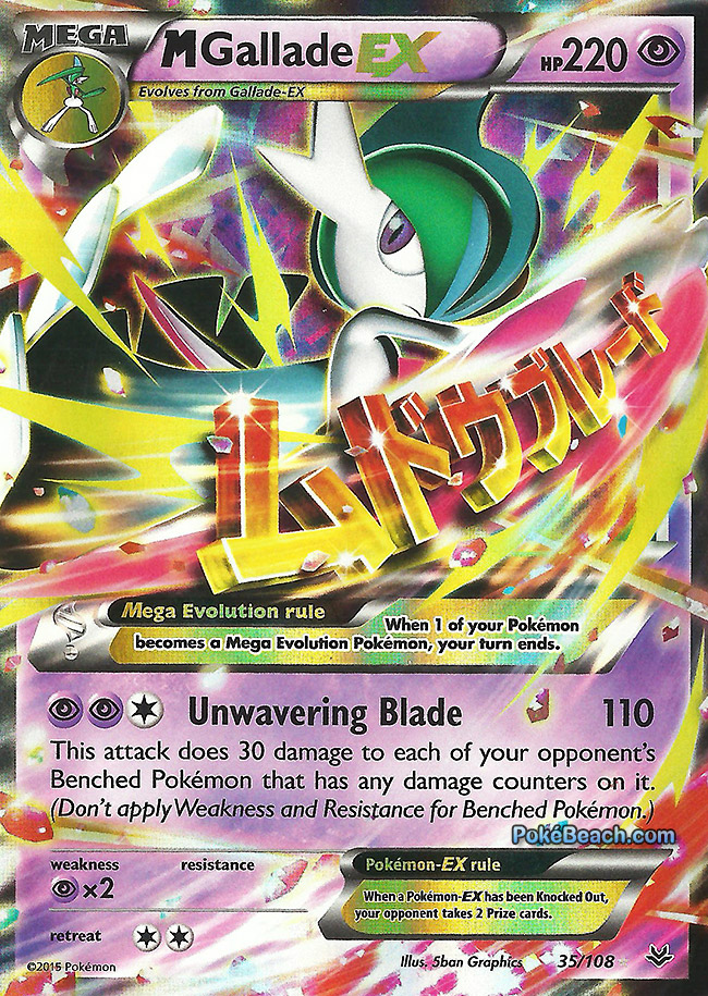 Flying blades and pointy slashes insight on mega gallade - Pokemon mega evolution ex ...