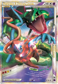 Rayquaza & Deoxys LEGEND from HS - Undaunted