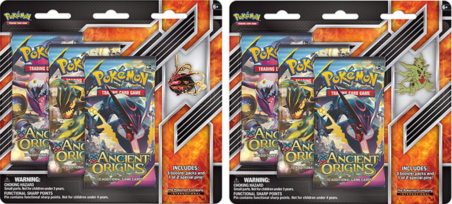 Mega Shiny Rayquaza / Mega Tyranitar 'Ancient Origins' Pin Blister