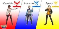 Pokemon GO Team Leaders Spark Blanche Candela